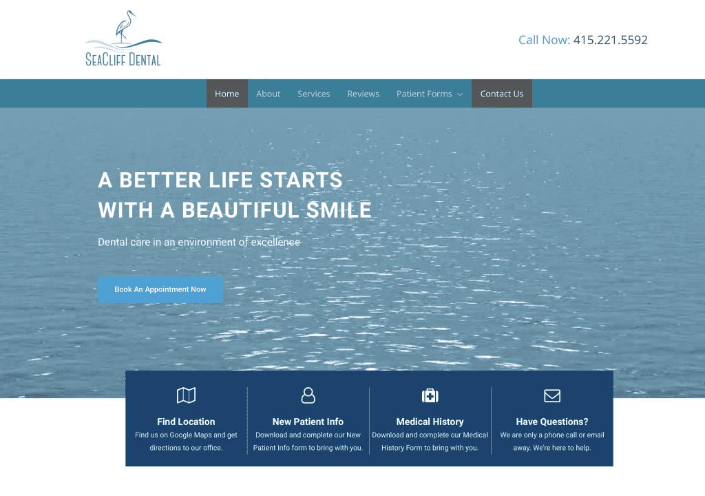 seacliff dental site thumbnail web zen studio
