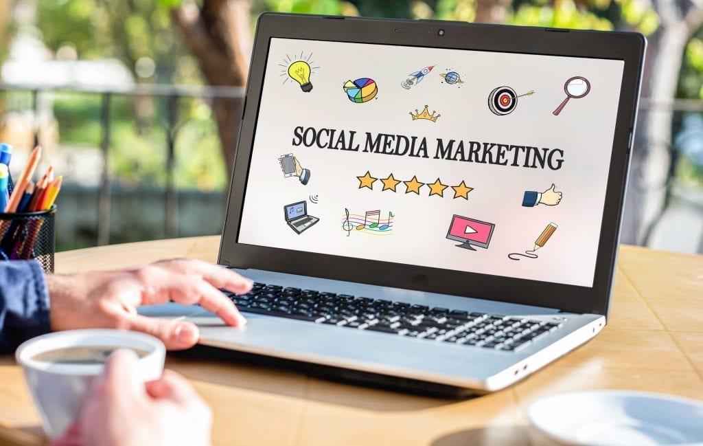 web zen studio social media marketing laptop image