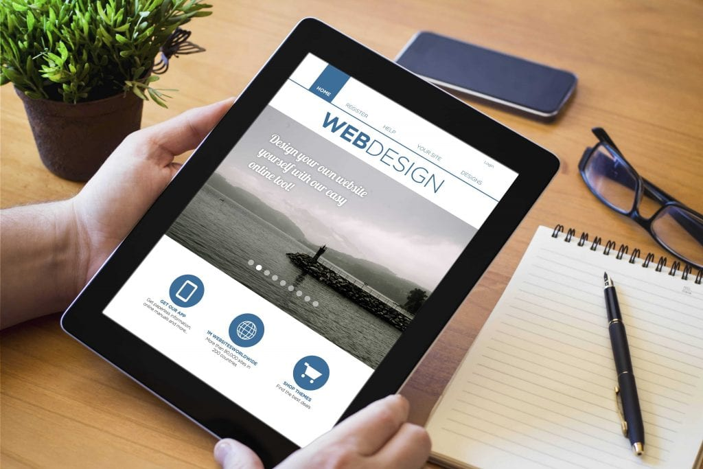 web zen studio website design on tablet image