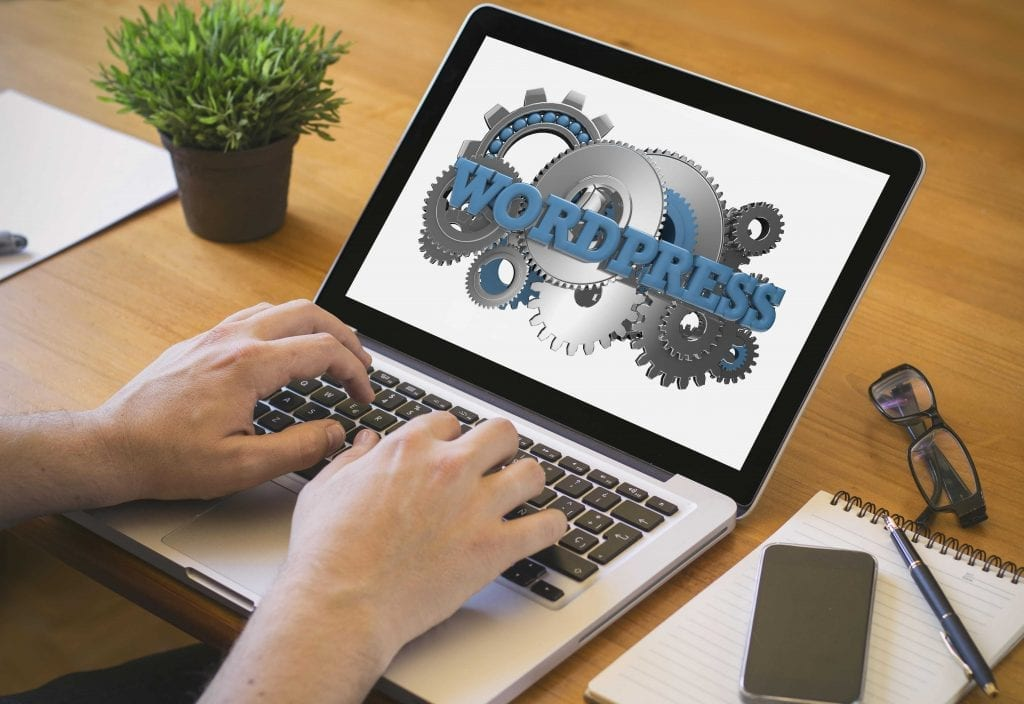 web zen studio wordpress on laptop image